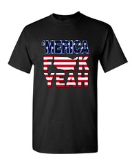 AMERICA F*CK YEAH T-Shirt  4th Of July Patriotic Tee Shirt - Tee Hunt - 2