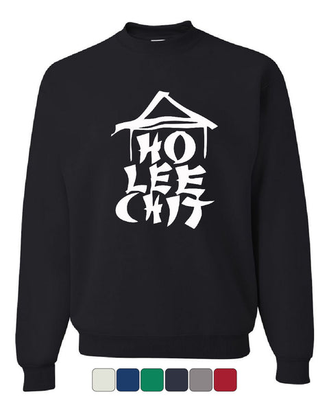 Ho Lee Chit Funny Crew Neck Sweatshirt Chinese Character Parody - Tee Hunt - 1