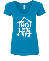 Ho Lee Chit Funny V-Neck T-Shirt Chinese Character Parody - Tee Hunt - 5
