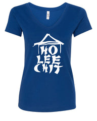 Ho Lee Chit Funny V-Neck T-Shirt Chinese Character Parody - Tee Hunt - 4