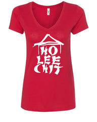 Ho Lee Chit Funny V-Neck T-Shirt Chinese Character Parody - Tee Hunt - 3