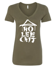 Ho Lee Chit Funny V-Neck T-Shirt Chinese Character Parody - Tee Hunt - 8