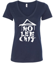 Ho Lee Chit Funny V-Neck T-Shirt Chinese Character Parody - Tee Hunt - 11