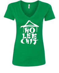 Ho Lee Chit Funny V-Neck T-Shirt Chinese Character Parody - Tee Hunt - 9