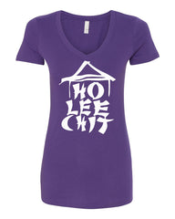 Ho Lee Chit Funny V-Neck T-Shirt Chinese Character Parody - Tee Hunt - 10
