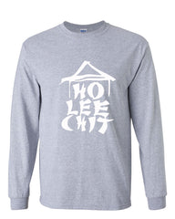 Ho Lee Chit Funny Long Sleeve T-Shirt Chinese Character Parody - Tee Hunt - 3