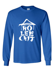 Ho Lee Chit Funny Long Sleeve T-Shirt Chinese Character Parody - Tee Hunt - 4
