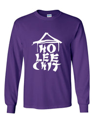 Ho Lee Chit Funny Long Sleeve T-Shirt Chinese Character Parody - Tee Hunt - 6