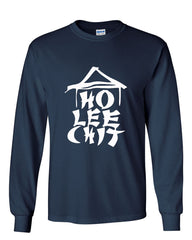 Ho Lee Chit Funny Long Sleeve T-Shirt Chinese Character Parody - Tee Hunt - 7