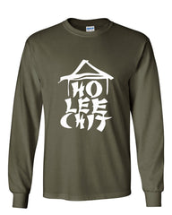 Ho Lee Chit Funny Long Sleeve T-Shirt Chinese Character Parody - Tee Hunt - 8