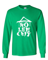 Ho Lee Chit Funny Long Sleeve T-Shirt Chinese Character Parody - Tee Hunt - 9