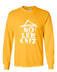 Ho Lee Chit Funny Long Sleeve T-Shirt Chinese Character Parody - Tee Hunt - 10