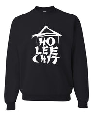 Ho Lee Chit Funny Crew Neck Sweatshirt Chinese Character Parody - Tee Hunt - 2