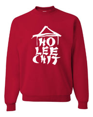 Ho Lee Chit Funny Crew Neck Sweatshirt Chinese Character Parody - Tee Hunt - 4