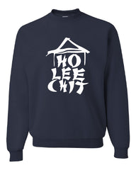 Ho Lee Chit Funny Crew Neck Sweatshirt Chinese Character Parody - Tee Hunt - 7
