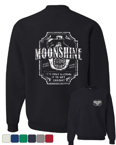 Moonshine Tennessee Whiskey Crew Neck Sweatshirt Smoky Mountain - Tee Hunt - 1