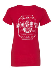 Moonshine Tennessee Whiskey Women's T-Shirt Smoky Mountain Tee - Tee Hunt - 3