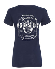 Moonshine Tennessee Whiskey Women's T-Shirt Smoky Mountain Tee - Tee Hunt - 5