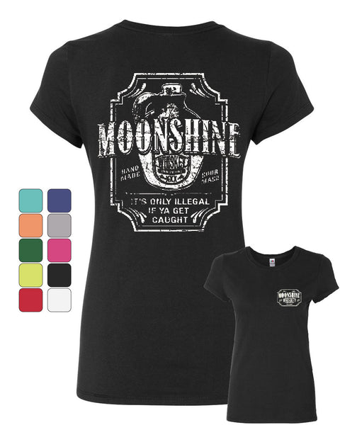 Moonshine Tennessee Whiskey Cotton T-Shirt Smoky Mountain - Tee Hunt - 1