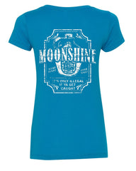 Moonshine Tennessee Whiskey V-Neck T-Shirt Smoky Mountain - Tee Hunt - 5