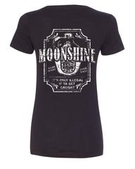 Moonshine Tennessee Whiskey V-Neck T-Shirt Smoky Mountain - Tee Hunt - 2