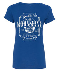 Moonshine Tennessee Whiskey V-Neck T-Shirt Smoky Mountain - Tee Hunt - 4