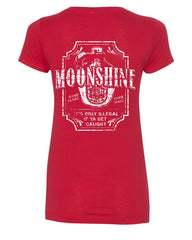 Moonshine Tennessee Whiskey V-Neck T-Shirt Smoky Mountain - Tee Hunt - 3