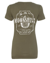 Moonshine Tennessee Whiskey V-Neck T-Shirt Smoky Mountain - Tee Hunt - 8