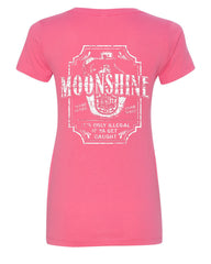 Moonshine Tennessee Whiskey V-Neck T-Shirt Smoky Mountain - Tee Hunt - 6