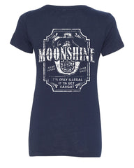 Moonshine Tennessee Whiskey V-Neck T-Shirt Smoky Mountain - Tee Hunt - 11