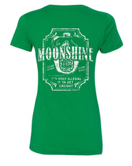 Moonshine Tennessee Whiskey V-Neck T-Shirt Smoky Mountain - Tee Hunt - 9