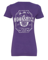 Moonshine Tennessee Whiskey V-Neck T-Shirt Smoky Mountain - Tee Hunt - 10