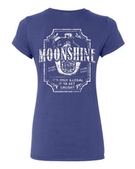 Moonshine Tennessee Whiskey Cotton T-Shirt Smoky Mountain - Tee Hunt - 4