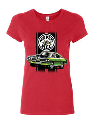Dodge Green Super Bee Women's T-Shirt American Classic Muscle Car Shirt