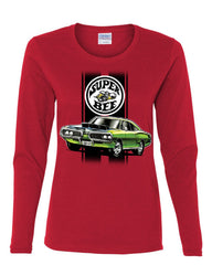 Dodge Green Super Bee Women's Long Sleeve Tee American Classic Muscle Car