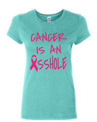 Cancer is an Asshole Cotton T-Shirt Breast Cancer Awareness