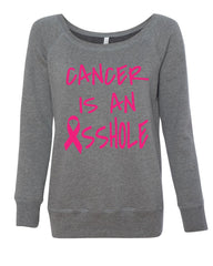 Cancer is an Asshole Sweatshirt Breast Cancer Awareness