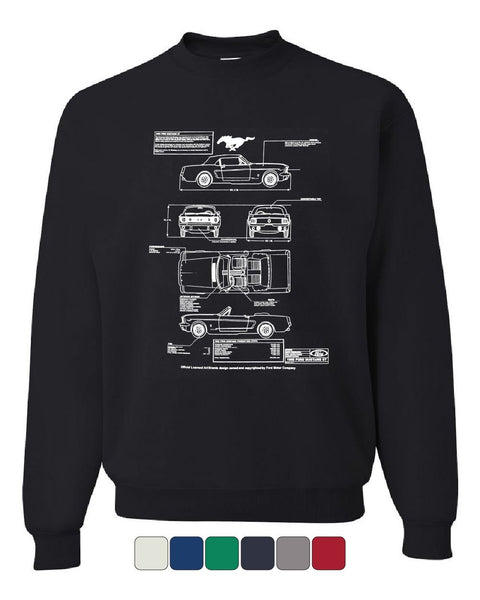 1966 Ford Mustang GT Blueprint Sweatshirt American Classic Sweater