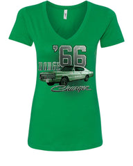 Dodge Charger '66 Women's V-Neck T-Shirt American Classic Muscle Car