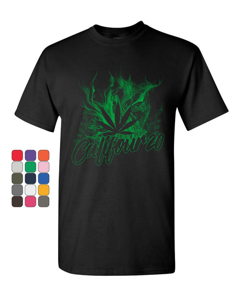 Califour 20 420 T-Shirt Pot Weed Smoking Cali CA 420 Marijuana Mens Tee Shirt