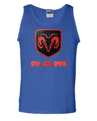 Black & Red Dodge RAM Logo Tank Top RAM Hemi Pickup Top