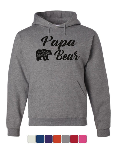 Papa Bear Hoodie For Dad Father's Day Protector of the Family Sweatshirt
