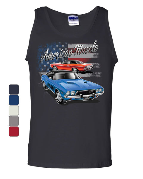 dodge challenger american classic tank top american muscle car sleevel