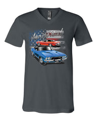Dodge Challenger American Classic V-Neck T-Shirt American Muscle Car Tee