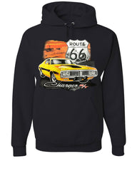Dodge Charger R/T Hoodie Route 66 USA Muscle Car Sweatshirt
