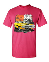 Dodge Charger R/T T-Shirt Route 66 USA Muscle Car Cotton Tee