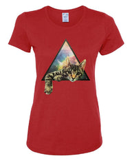 Galaxy Cat Women's T-Shirt Cute Kitten Pet Universe Tee