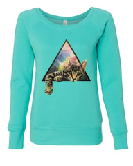 Galaxy Cat Women's Sweatshirt Cute Kitten Pet Universe