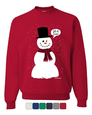 Let It Snow Sweatshirt Funny Snowman Christmas Xmas Sweater