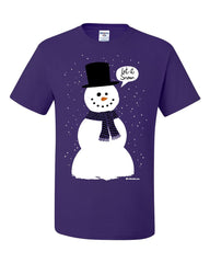 Let It Snow T-Shirt Funny Snowman Christmas Xmas Tee Shirt